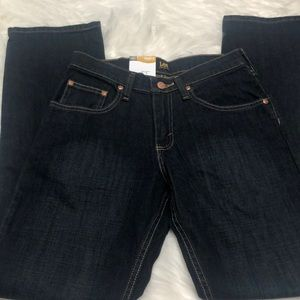 Lee straight leg active stretch jeans sz 16 Slim